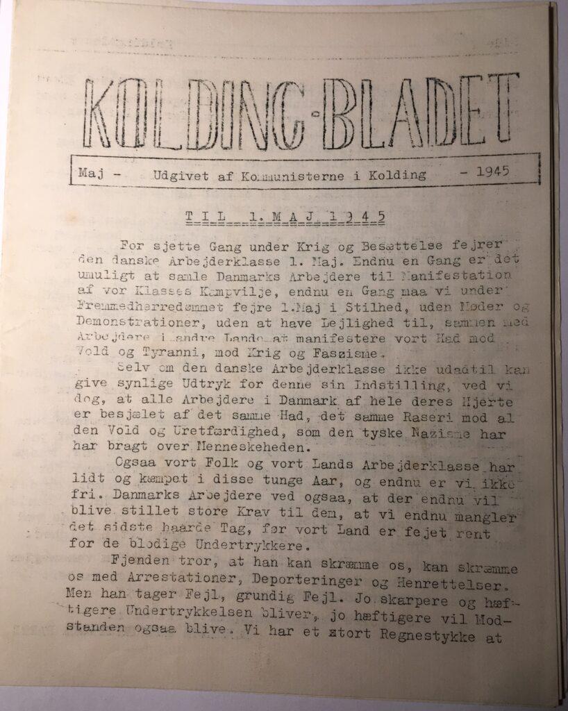 Kolding Bladet - maj 1945 - side 1