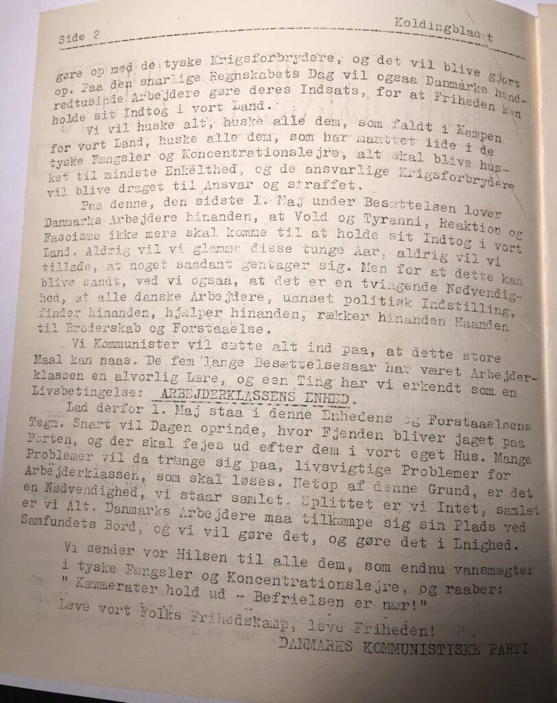 Kolding Bladet - maj 1945 - side 2