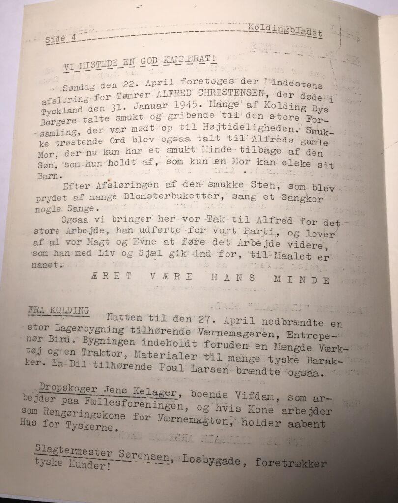 Kolding Bladet - maj 1945 - side 4