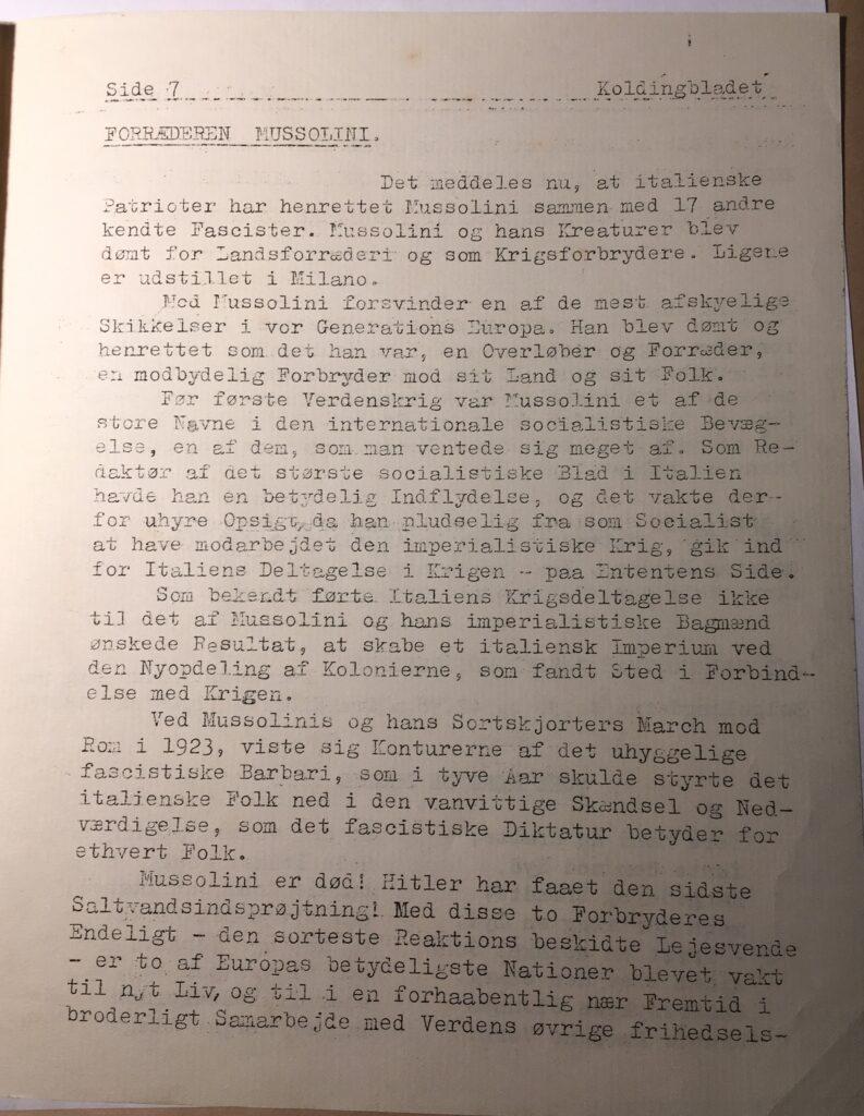 Kolding Bladet - maj 1945 - side 7