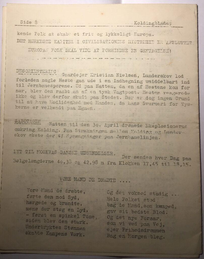 Kolding Bladet - maj 1945 - side 8